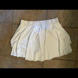Lululemon Court Rival Skirt High Rise Wht 10 Tall